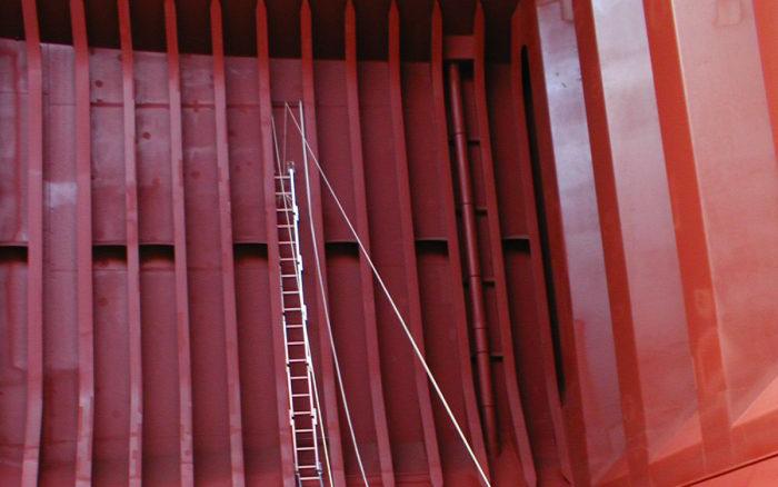ホールドフレーム点検用梯子