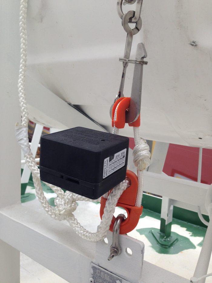 水圧式離脱装置